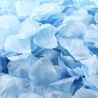 aqua rose petals - 5000pcs Silk Artificial Flowers artificial petals Aqua simulation rose petals sprinkled flower petals wedding ceremony home ac