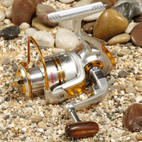 Wholesale Fishing Reel Spinning Reel Golden XY2000 BB No Clearance Wooden Handle Carretilha Pesca Aluminum Wire Cup carretilha