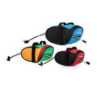 Wholesale Roswheel Bicycle Saddle Bag Outdoor Cycling Mountain Bike Saddle Bag Tail Back Seat Bag Red Blue Black Green Colors