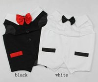 Wholesale New Large Pet dog Wedding tuxedo Wedding dresses with Dog Bows clothes for dogs Retail