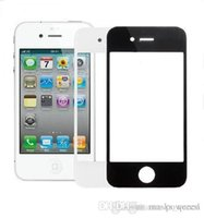 front glass iphone 4 - 100 Original Front Outer Screen Glass Lens For iphone S G Replacement Repair Part Black RCD00179