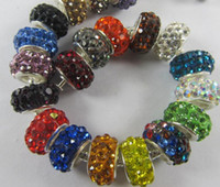 Wholesale OMH x7mm mix colorful jewelry DIY big hole AAA crystal Suitable for bracelet necklace European beads ZL575