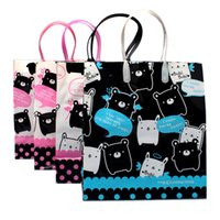 plastic tote - new CARTOON plastic shopping bags clothing pants storage printing tote bag reusable bags wit low price
