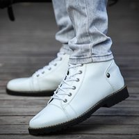 microfiber suede - 2014 New arrival low high winter boots men fashion PU Martin boots men high top rivet shoes causal sneakers Eur