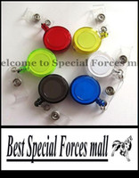 Wholesale Random Color Retractable Ski Pass ID Card Badge Holder Key Chain Reels With Metal Clip