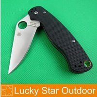 Wholesale Spyderco C81 Tactical Knifes US Military Army CPM S30V Blade G10 Handle Black Clip Outdoor Camping Folding Pocket Knife