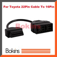 Wholesale 2015 For TOYOTA Pin to Pin OBD1 to OBD2 OBDII Connect Cable chp
