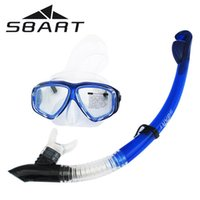 Wholesale SBART Spearfishing Snorkeling Glasses Swimming Goggles Scuba Diving Equipment Anti Fog Silicone Diving Mask Full dry Snorkel Set