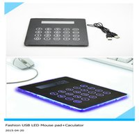 computer - Fashion NET mouse pad Multi function port USB Hub Mouse Pad Calculator function in pad for computer laptop PC razer black mousepad
