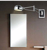 Northern Europe/IKEA bathroom swing arm mirror - Bedroom Silver Foldable Vintage wall lights Bathroom Swing Arm Wall Sconce Bedside wall Lighting Reading Lights Wall Mounted led mirror lamp