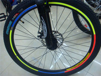 Wholesale DIY Decoration Bicicletas Fluorescent Bicycle Wheel Stickers Cycling Wheel Rim Reflective Decal For Outdoor Sports Bicycle Glossy Veneer DIY