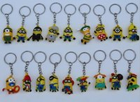 Wholesale Cute Gifts Keys Chain Key Chains Kids Boys Girls D Despicable Me2 Minions Action Figure Keychain Keyring Key Ring cm D4217