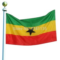 Wholesale 96cm x cm Ghina Flag National Flags Ghanaian Country Supporter World Cup Banner ftx5ft Rope Polyester