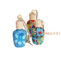 Wholesale In car Silk cotton Perfume bottle Hang rope empty car perfume Refillable Bottles Interior Air Purifier Car Fresh