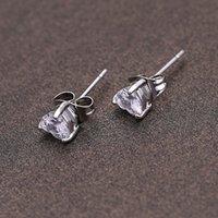 zirconia stud earrings - 2015 Luxury Fashion k Gold Platinum Plated Earrings White Clear Crystal Zirconia Stud Earring Love Heart Ear Jewelry E302d J0003