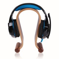 Wholesale Omega Wooden Headphone Display Stand Universal Headset Holder Earphone Mate Hanger for Gaming Headset order lt no track