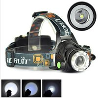 Wholesale 10W Boruit XML T6 LM LED Zoomable Headlamp Lantern Linterna Frontal Head Torch Light Modes Headlight Flashlight For Sport