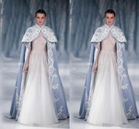 abayas for weddings - Paolo Sebastian Wedding Jacket Wrap For Bride High Neck Wedding Cape Embroidery Satin Cloak Jacket Bridal Bolero Shrug Dubai Abaya