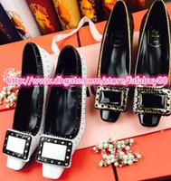 Wholesale Newest fashion brand designer low heel women dress wedding party formal office lady shoes footwear drop shipping FL1622