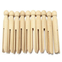 Wholesale 10CM Long Natural Wood Clothes Pins Peg Doll Pins Clips Old Fashioned Pegs Doll Making Craft
