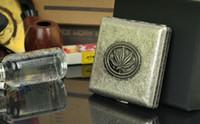Cheap Square weed leaf cigarette case Best Copper  metal cigarette holder