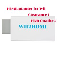 Wholesale Clearance High quality Hot HDMI Adapter for WII Portable device for WII White Brand new