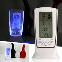 Wholesale Modern Unique phone Calendar Thermometer Backlight LED Screen Digital Alarm Clock Desktop Clock MTY3