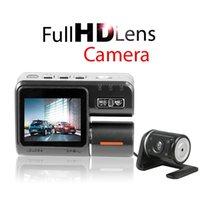 night view lens - DHL Dual Lens Car Camera DVR i1000 Car DVR Dual Camera HD P Dash Cam with Rear View Camera Car Recordera