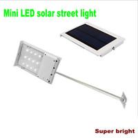 mini solar light garden - Waterproof LED Solar Powered Sensor Lighting Ultra thin Outdoor Pathway Wall Street Light Garden Lamp mini Solar Street Lights