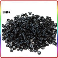 Wholesale 1000pcs mm silicone micro ring beads links for hair extensions tools