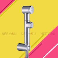 Wholesale Chrome ABS Bidet nozzle sprinkler Bidet spray gun Woman Cleaning Equipment Toilet Shattaf Small shower heads Set quot hose Shower holder