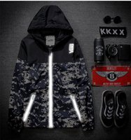 mens clothing - Hooded Mens Clothes Colors M Reflective Camouflage Thin Outdoor Sport Waterproof windbreak Jackets For Men N
