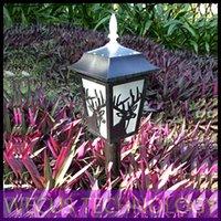 Al por mayor (WECUS) envío libre, villa en el jardín balcón jardín del paisaje iluminación decorativa, LED lámpara de césped solar al aire libre, los 50CM, XJ-HWD0034
