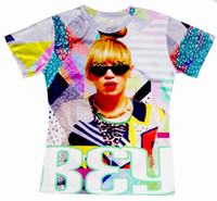 Wholesale 2015 New Women Men T shirt Unisex Tee Lovers T shirt Beyonce D Fun Digital Print Short Sleeve Pullovers Tops Casual shirt
