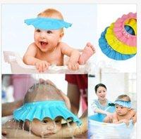 Wholesale Shampoo Cap Baby Safe Shield Bath Upset Soft Waterproof Lotus Leaf Wash Hair Shield Infant Cap Cute High Quality Toddler Bathing Shower Cap