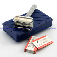 best razors men - Classic Safety Razor Shaving Razor With Case X Blades Best MEN Travel Kit