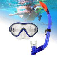 Wholesale JIEJIA NEW Swimming Scuba Diving Masks Anti Fog Swim Goggles Snorkel Glasses Set Colors YJ034 H25