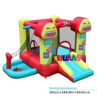 Wholesale Smiling face outdoor jump inflatable castle bouncer for kids