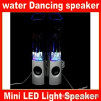 Wholesale Newest fashion colorful water spray mini speaker portable music fountain water dancing speaker for cell phone computer Mp4 etc JF A4