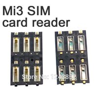 Wholesale Xiaomi Mi3 New repair replacement repair part SIM card tray holder reader socket high quality