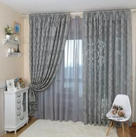 Wholesale Leaf style design jacquard curtain blind for window living room home decoration