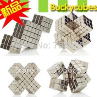 Wholesale Bucky Neo Size mm set With Metal Box Magnetic cube Block Nickel Magnet ball magic toy