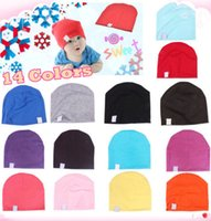 Wholesale 1 Unisex Cotton Beanie Hat for NewBorn Cute Baby Boy Girl Soft Toddler Infant Cap Colorful