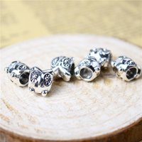 Wholesale Owl Alloy Charm Bead Silver Fashion Women Jewelry Stunning Design European Style For DIY Bracelet PAB01