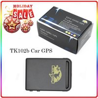 Cheap  TK102b GPS Tracking MINI Real Time GSM GPRS GPS 4 Bands Vehicle Car Tracking System GPS Tracker For Kids Child + TF card slot