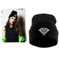 Wholesale New Fashion Casual Diamond Embroidery Beanies Hat Wool Cap Winter Knitted Warm Hats For Men And Women Cheap Beanie Hip Hop Cap