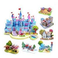 Wholesale 3D puzzle hand assemble DIY jigsaw Castle model Children s toys jigsaw puzzle Building model gift for children