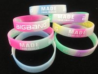 Wholesale High quality new Bigbang MADE Silicone Bracelet Noctilucent Colorful Wristband Sport bracelets only bands no boxes package