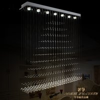 Wholesale 85 V led crystal LAMP of contemporary and contracted meals chandeliers romantic fashion bar pyramid crystal lamps and lanterns