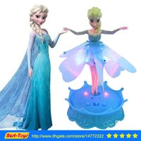 Cheap Unisex Frozen Flying Princess Best 8-11 Years ABS RC Helicopter Toy